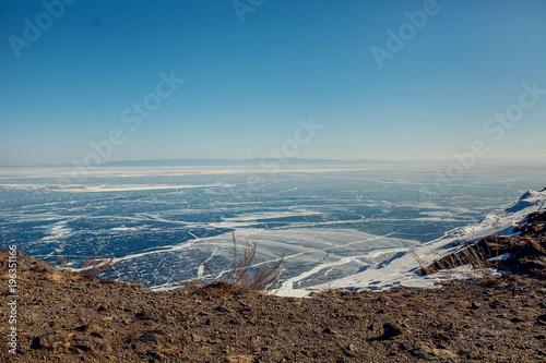 In de dag Blauwe jeans Lake Baikal