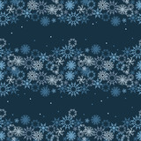 vector abstract seamless winter pattern with snowflakes