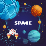 space banner. cosmos. galaxy. vector illustration