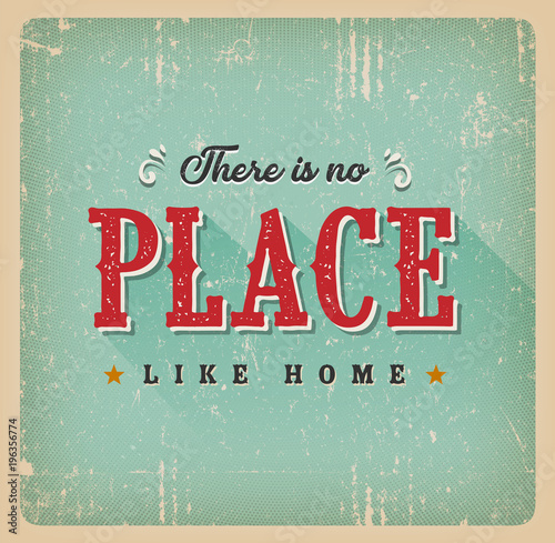 There Is No Place Like Home Retro Card