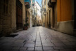 Historical Narrow Street in Malta - 196365178