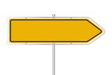 Gelbes Straßenschild - 196367758