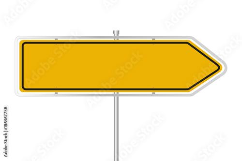 Żółty znak uliczny