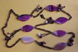 Necklace decoration of lilac Agates