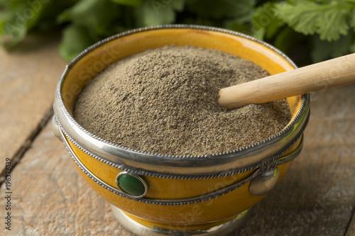 Fotobehang Marokko Moroccan bowl with ground black pepper