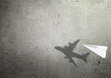 Paper plane shadow concept - 196382386