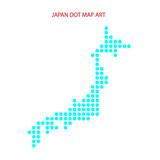 japan dot map art