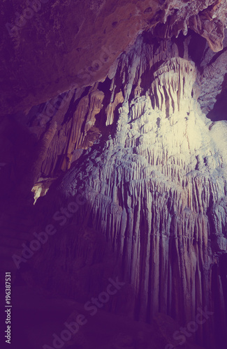 Picture of illuminated Grotte des Demoiselles in  France