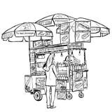 Hot dog street cart in New York