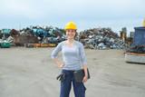 female junkyard worker - 196401971