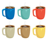 cup of coffee set - 196409541