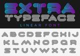 Font vector alphabet design linear. ABC Letter Logo Monogram - 196412903