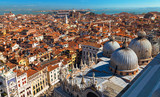 Top view on San Marco square in Venice. Stock photo.