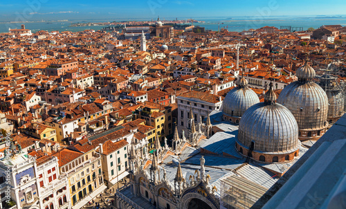 Foto op Canvas Venetie Top view on San Marco square in Venice. Stock photo.