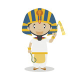 Ramses II the Great cartoon character. Vector Illustration. Kids History Collection. - 196420172