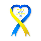Symbol of world Down Syndrome day. Vector illustratio - 196428545