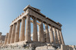 Corner of the Parthenon in Athens, Greece