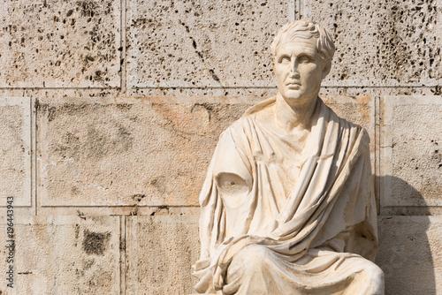 Tuinposter Athene Old statue on Acropolis, Athens, Greece