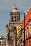Old church in the centre of Mexico City, Mexico