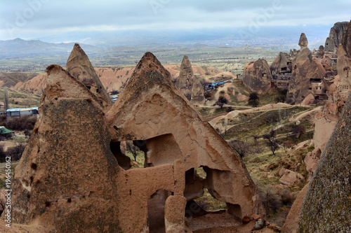 Foto op Canvas Diepbruine Необычный пейзаж в регионе Каппадокии