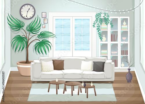 Foto op Canvas Kinderkamer Elegant living room
