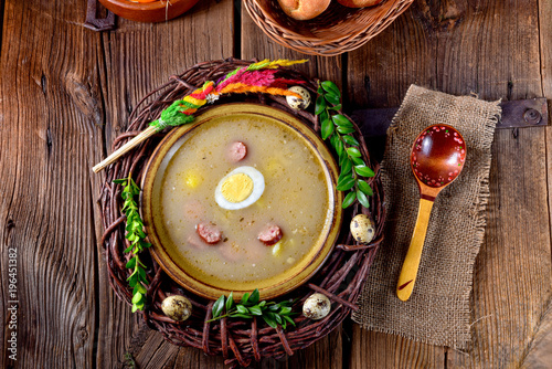 sour rye soup - 196451382