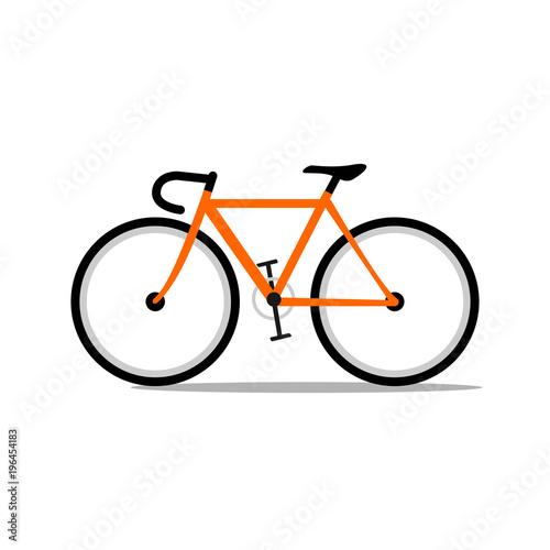 orange road bicycle.