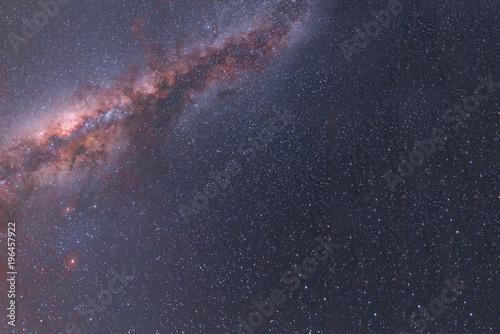 Fototapeta Milky Way galactic center over sky.