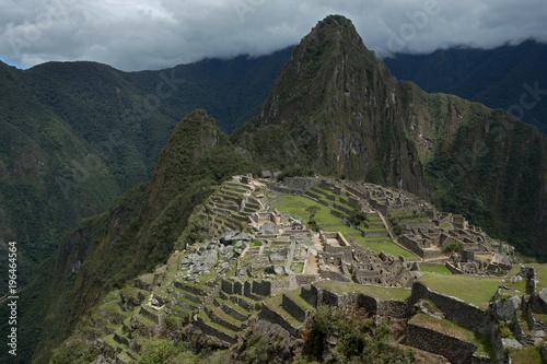 Fotobehang Nachtblauw Machu picchu Peru. Temple. Inca culture
