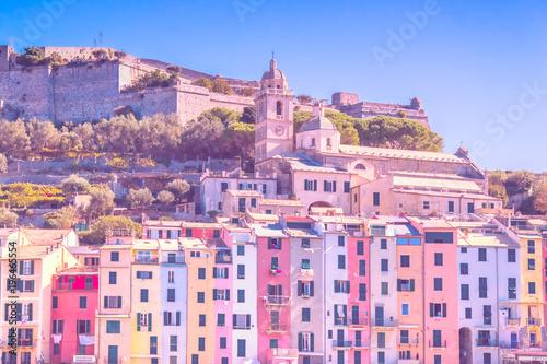 Foto op Plexiglas Liguria Houses in Portovenere, Liguria, Italy