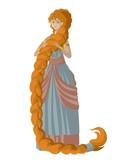 long hair child tale girl
