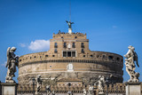 Ancient Castel Saint'Angelo in Rome, Italy.  Castel Saint'Angelo in Rome. This Fortress was built as a mausoleum for the Emperor Hadrian.  - 196467777