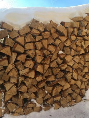 Foto op Canvas Brandhout textuur wood firewood texture
