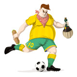 Soccer player with food