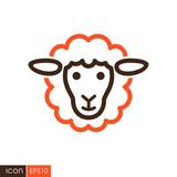 Sheep vector icon. Animal head - 196472538