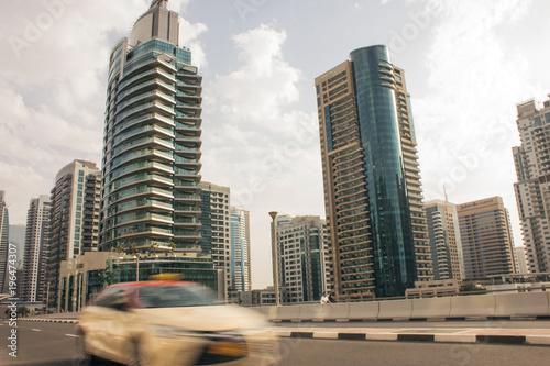 Foto op Canvas Dubai Dubai city taxi