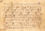 Antique Music Sheet Texture - Vintage Paper Texture Background