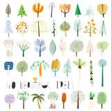 Vector tree illustration collection - 196476318