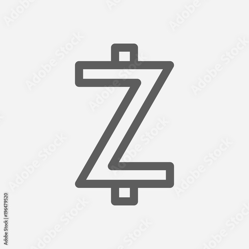 Zcash Icon Line Symbol Isolated Vector Illustration Of Money Sign Concept For Your Web Site