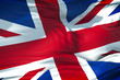 closeup of flag of Union Jack, uk england,  united kingdom flag