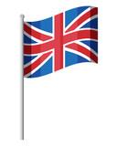 flag of united kingdom over white background, colorful design. vector illustration - 196488956