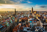 Sunset over the old town in Wroclaw, Silesia, Poland - 196494525