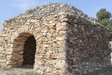Agricultural structure,typical in mediterranean area,sonecraft,barraca de vinya.Catalonia,Spain. - 196503190