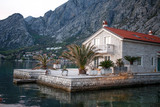 house on the Kotor Bay in mountains. Adriatic sea. Montenegro - 196504979