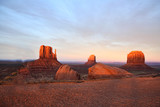Red rock formations in Monument Valley in Arizona