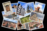 Gdansk, Poland -  postcard collage