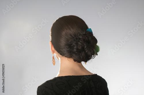 Foto op Plexiglas Kapsalon Beautiful hairstyle on short hair