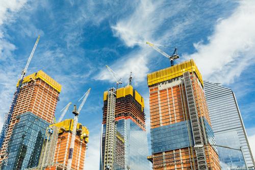 Fototapeta samoprzylepna Skyscrapers construction site for modern buildings in New York