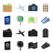 Vacation, travel, passport, globe .Rest and travel set collection icons in black,cartoon style vector symbol stock illustration web.