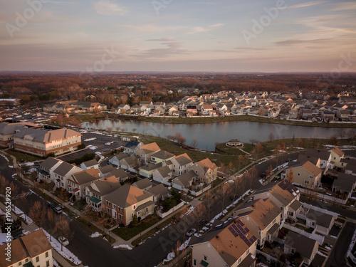 Foto op Aluminium Ochtendgloren Aerial of Robbinsville NJ